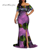 Dashiki African Dresses For Women Colorful Daily Wedding African Dresses for Women Floor Length Dress African Clothes WY4466