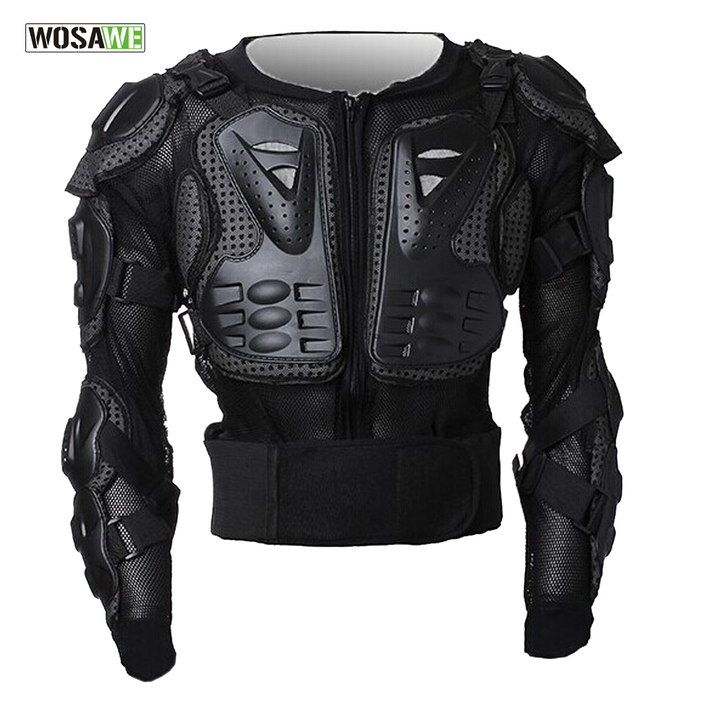 WOSAWE Motorcycle Jacket Protection Motocross Body Armor Spine Chest Protective Jacket Gear Full Body Support Skiing