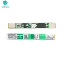 5 pcs 1 S 3.7 V 18650 סוללת ליתיום הגנת לוח 2A חיוב יתר מעל פריקה קצר חשמלי להגן BMS PCM ליתיום מודול