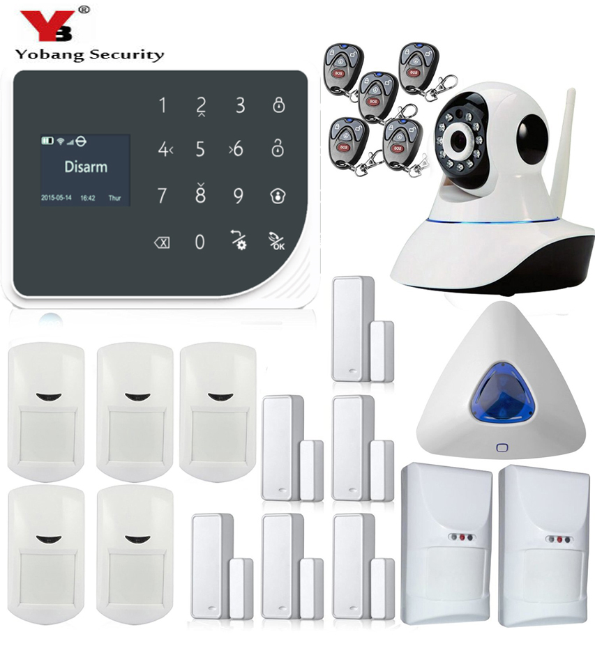 YoBang Security Smart Home Security Alarm System App Control Wireless Security Alarm System Video IP Camera PET Friendly Sensor