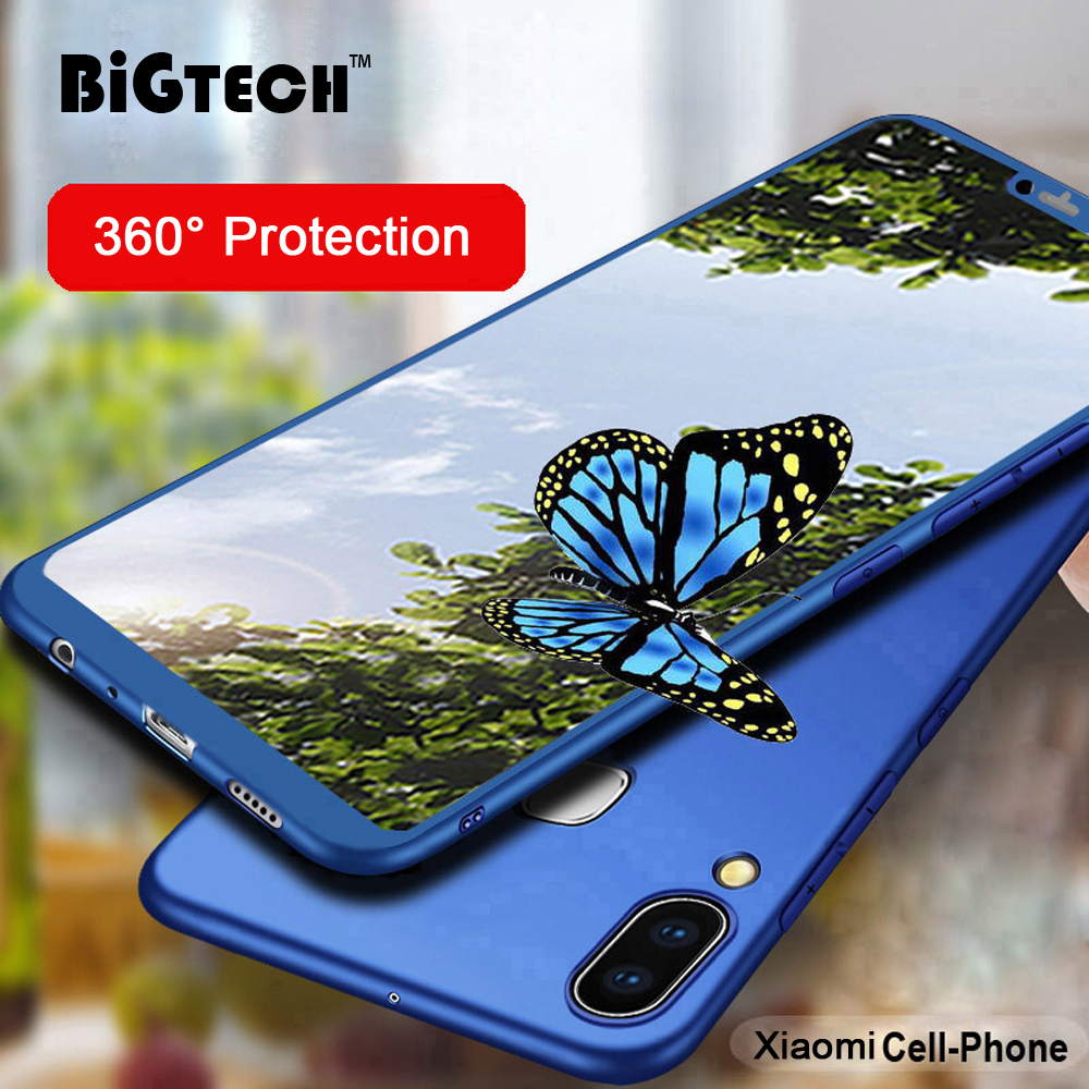 360 Degree Full Cover Case for Xiaomi Mi8 Pro Mi 8 lite Case Matte Cover for Xiaomi Mi 9 Mi A2 lite A1 Shell Glass Coque in Fitted Cases from Cellphones Telecommunications