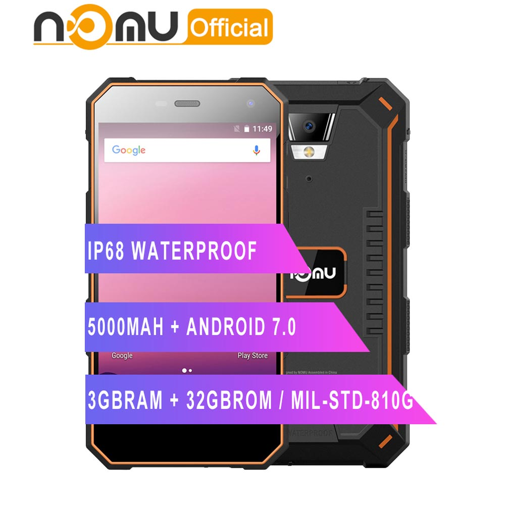 Nomu S10 Pro Mobile Phone 5000mAh Quick Charge IP68 Waterproof 3GB 32GB 5 0 MTK6737T Quad