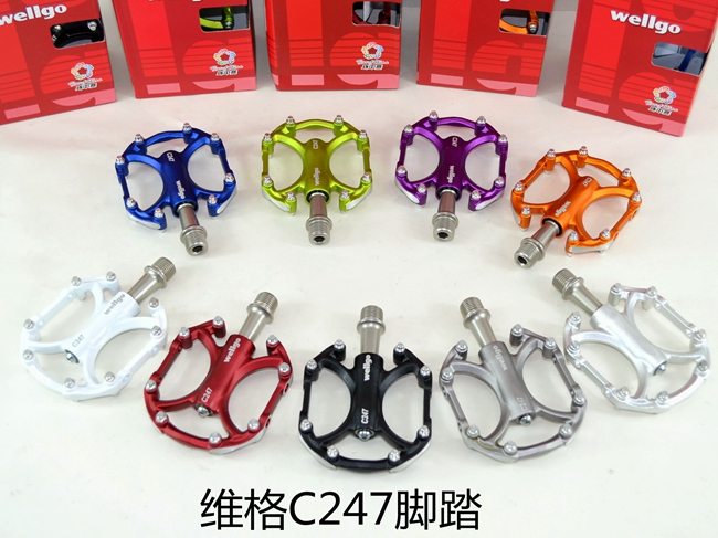 цена на wellgo c247 aluminum alloy road bike pedal mountain bike pedal bicycle parts Folding bike pedal