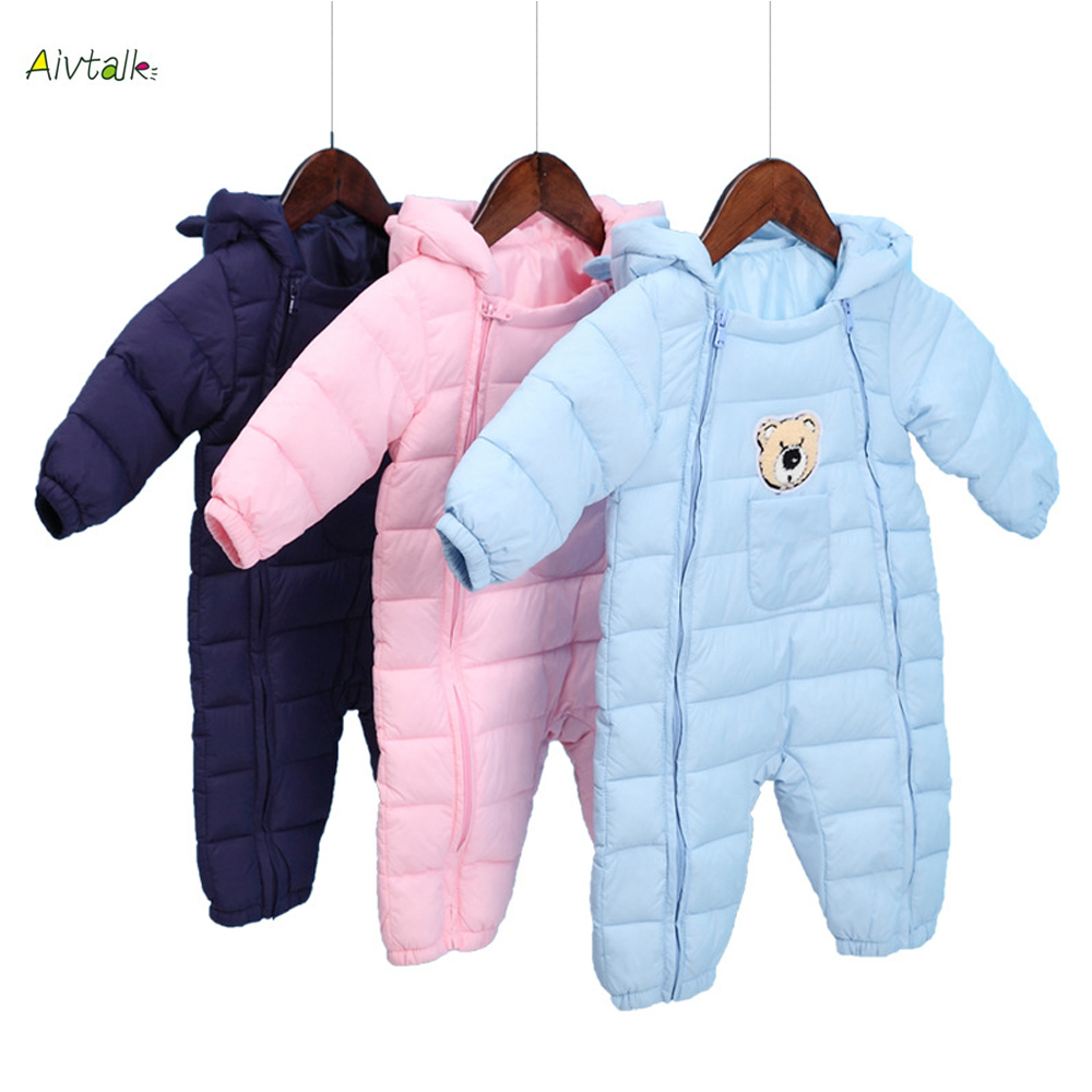Winter Warm Baby Girl Boy Romper Newborn Cotton Down Jacket Jumpsuits Infant Hooded Snowsuit Clothes Kids Outerwear for 0-12M fashion girl thicken snowsuit winter jackets for girls children down coats outerwear warm hooded clothes big kids clothing gh236