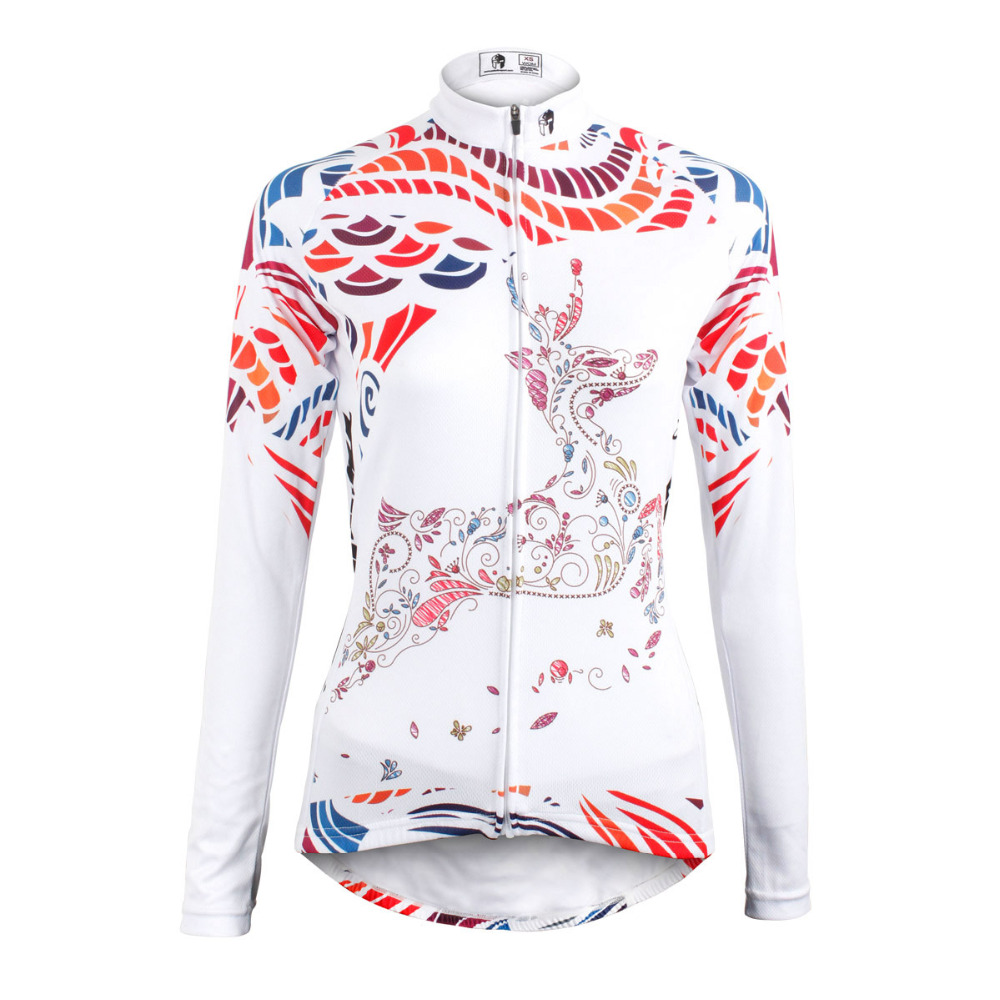 d1d80e182 Free shipping Women Reindeer Polyester Long Sleeve Cycling Jerseys  Breathable Bicycle Clothing Black Bike Clothes size XS TO 6XL-in Cycling  Jerseys from ...
