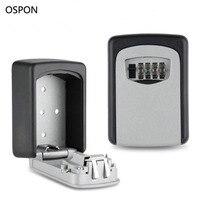 Key Storage Box Digit Wall Mount Combination Lock Four Password Keys Safe Box Aluminum Alloy Material
