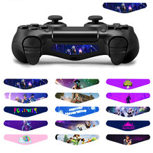 Fashion Custom 15 Pcs Game Lichtbalk Vinyl Stickers Decal Led Lichtbalk Cover Voor Playstation Dualshock 4 PS4 Pro Slim controller(China)