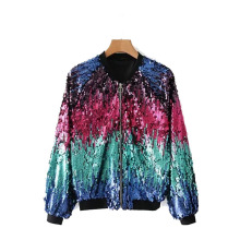 US $33.6 30% OFF|Spring Handmade Sequined Bomber Jacket Female Coat Loosen High Quality Shimmer Jeans Coat Autumn Casual Women Tops Jacket-in Jackets from Women's Clothing on AliExpress