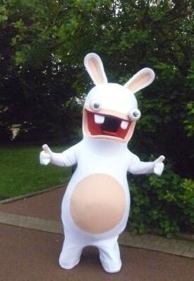 Rayman Raving Rabbids Del Costume Della Mascotte di Formato Adulto del Vestito Operato Per Il Natale di Halloween di Carnevale Del Partito
