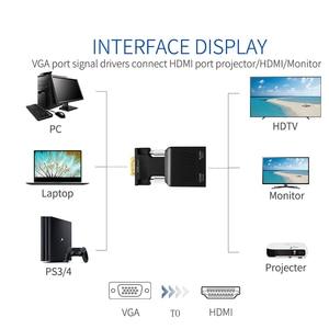 Image 2 - QGeeM VGA zu HDMI Konverter Mit Audio Full HD VGA zu HDMI adapter mit Video Ausgang 1080P HD für PC Laptop HDMI toVGA