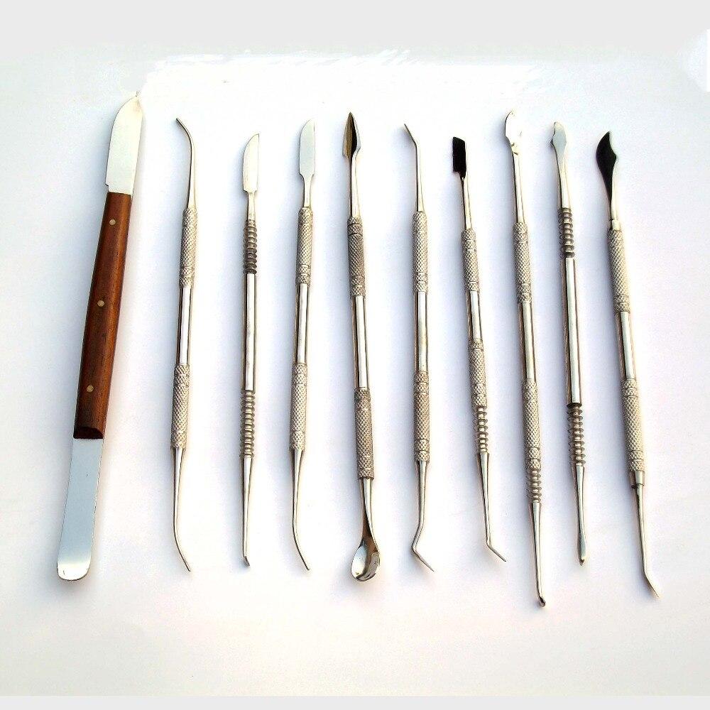Des outils d'argile de polymère en acier inoxydable 10 Pièce/jouets spéciaux/Thomas ciseau/20 sortes de utilise/Fimo Tool Set/Cire couteau/Livraison gratuite