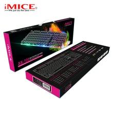 iMice Gaming Keyboard Steam Punk 104 Keys Rainbow Backlit Keyboards USB Wired Waterproof Mechanical Feeling Gamer Keyboard все цены