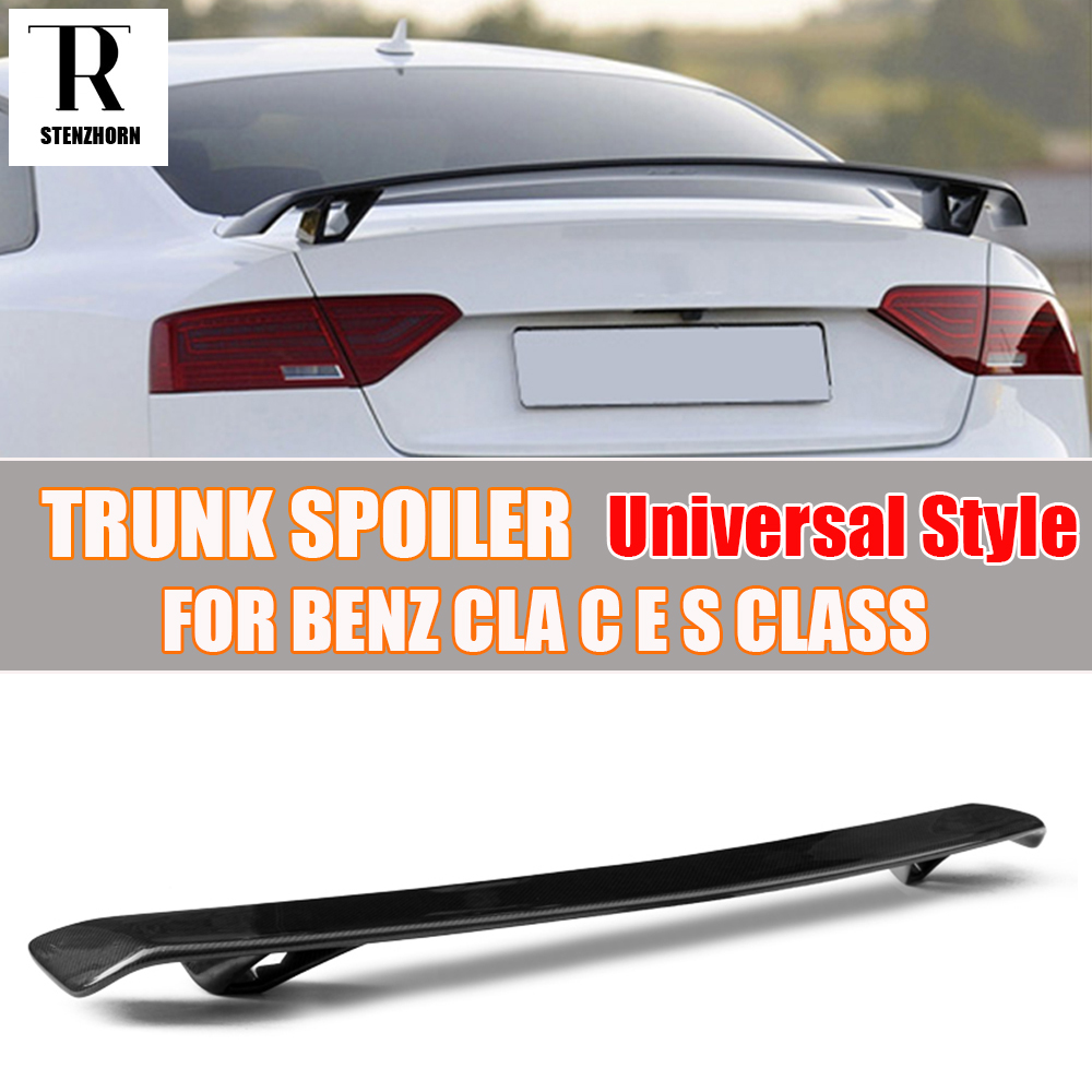 Carbon Fiber Universal Style Rear Trunk Wing Spoiler for Benz CLA C E - Auto Replacement Parts