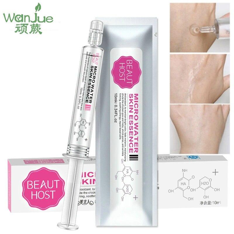 Smear Water Light Needle Liquid Essence Whitening Skin Shrink Pore Anti Aging Women Skin Care Hyaluronic Acid Face Oil Control