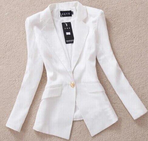 a203ce0575 XF11 women blouses 2014 Slim Female Blazers women office suits black white  blazer women women tops blazer feminino em Blazers de Roupas das mulheres  no ...