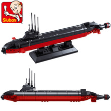 Model building kits compatible with lego city Nuclear-powered submarine 965 3D blocks Educational toys hobbies for children