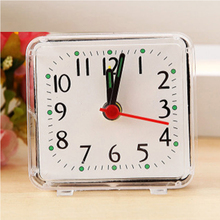 Creative Alarm Clock Cute Mini Metal Small Bed Compact Travel Quartz Beep