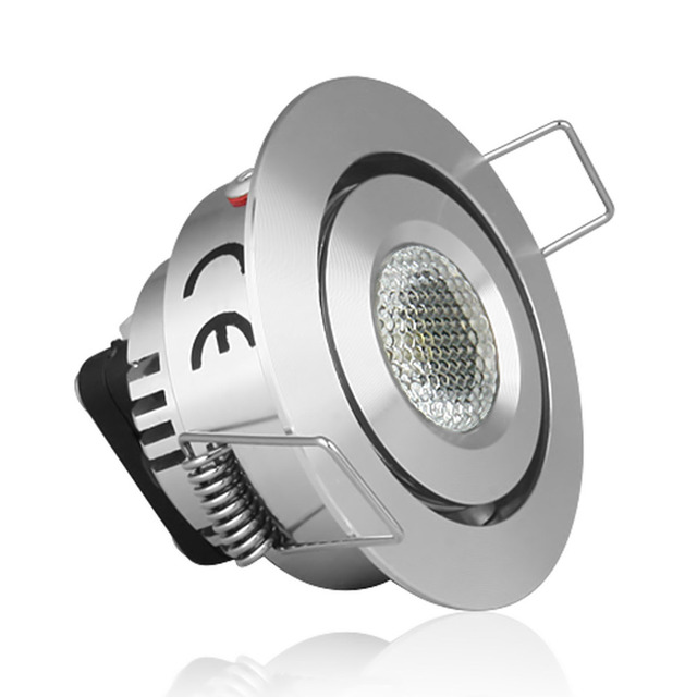 Free Shipping Le 1 Watt Led Downlight 12 Volt Low Voltage Recessed Lighting Warm White Decor Display Case Light