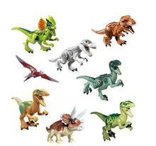 Single Sale Dinosaurs Indominus Rex Echo Dilophosaurus Pterosauria Tyrannosaurus Building Block Toys jurassic world