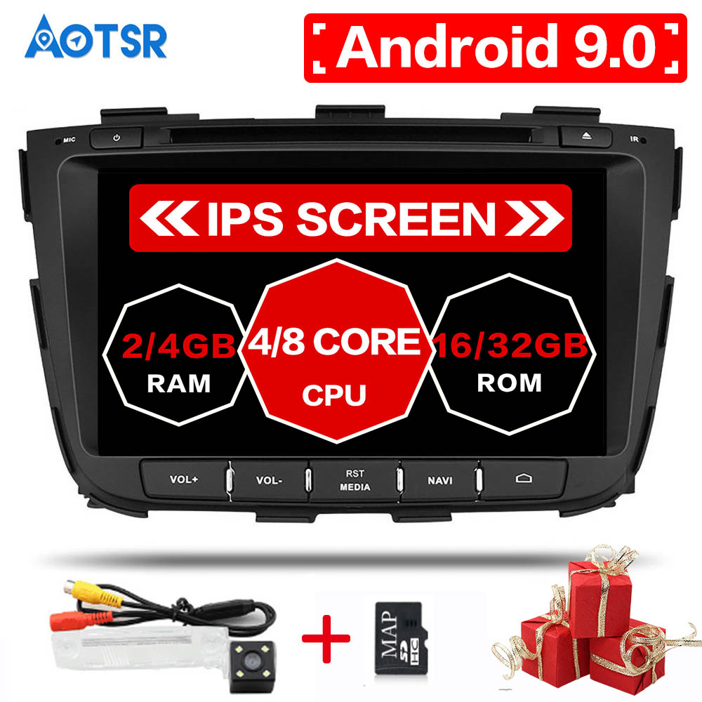 Android 10 64G Octa Core For KIA SORENTO 2013 2014 Car DVD Multimedia player GPS Navigation Autoradio Head Unit free camera map image
