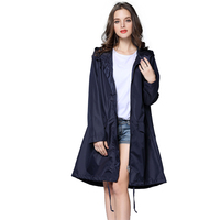 7 farben Trenchcoat Stil Regenmantel Frauen Outdoor Regen Poncho Jacke Mit Kapuze Wasserdichte Regen Mantel Undurchlässig Reißverschluss Regenmäntel