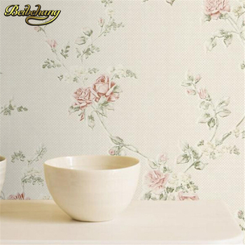 beibehang papel de parede. Rustic bedroom wallpaper non-woven flower wall paper background wall wallpaper roses for living room beibehang papel de parede european luxury embossed non woven wallpaper wallpaper bedroom living room 3d flower tv wall