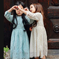 New Arrival Girl Dress Long Sleeve O-Neck Full Lace Mid-Calf Length Kids Dress Fashion Girls Birthday Party Princess Dress 2-8Y