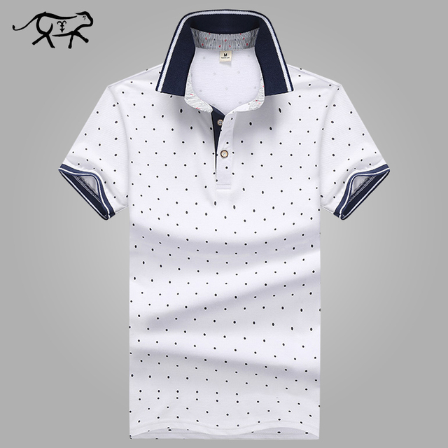 b3b4493111b New Brand POLO Shirt Men Cotton Fashion Polka Dot Printed Male Camisa Polo  Summer Short-sleeve Casual Lapel Polo Shirts Slim Fit