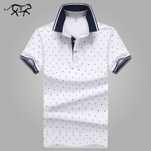 New Brand POLO Shirt Men Cotton Fashion Polka Dot Printed Male Camisa Polo Summer Short-sleeve Casual Lapel Polo Shirts Slim Fit