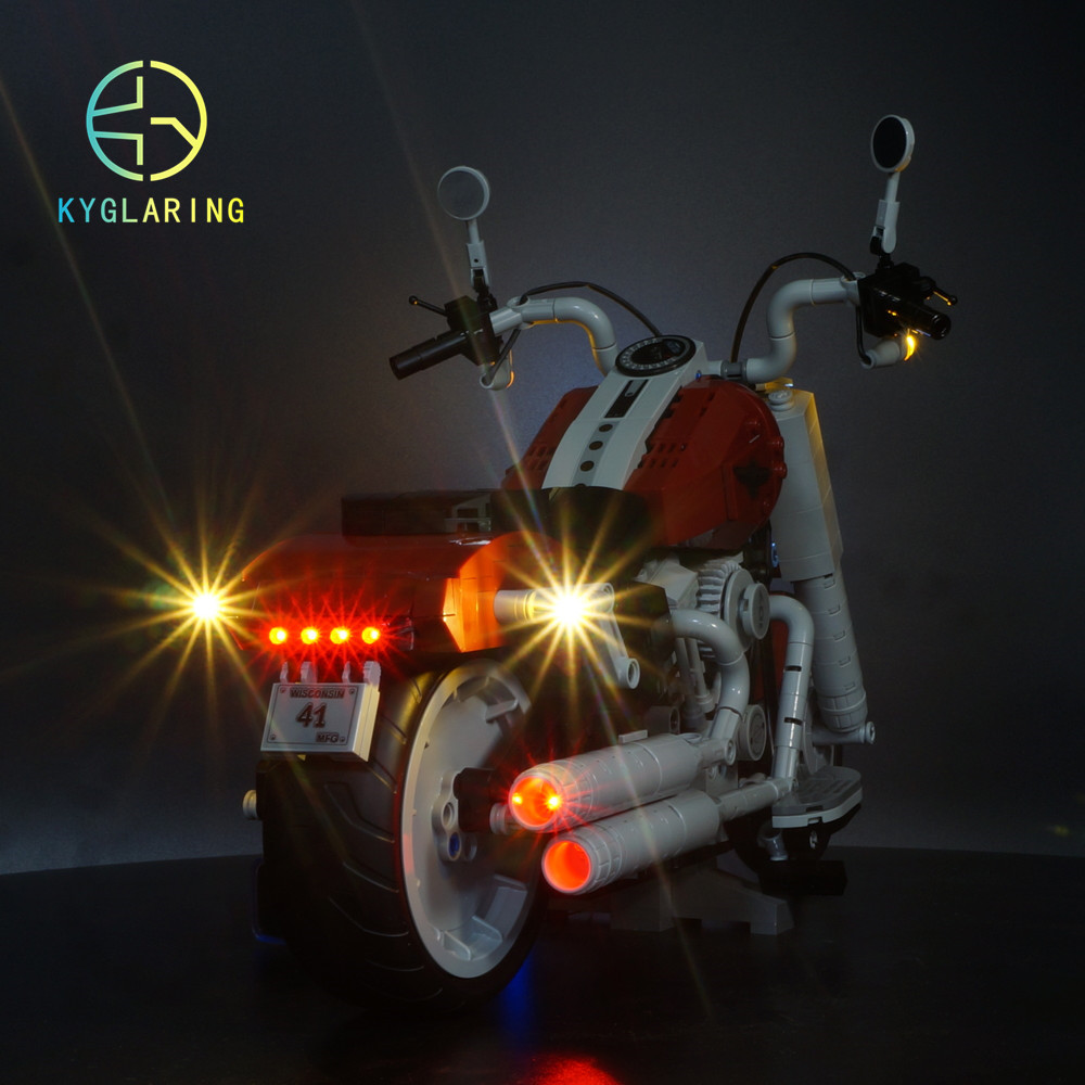 LED Light Kit For Lego 10269 Harley Davidson Fat Boy Blocks Set  (not Include The Motorcycle) )