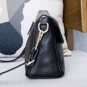 Image 4 - Genuine Leather Womens Shoulder Bags for Women Fashion Ladies CrossBody Bag Female Cow Leather Flap Handbags