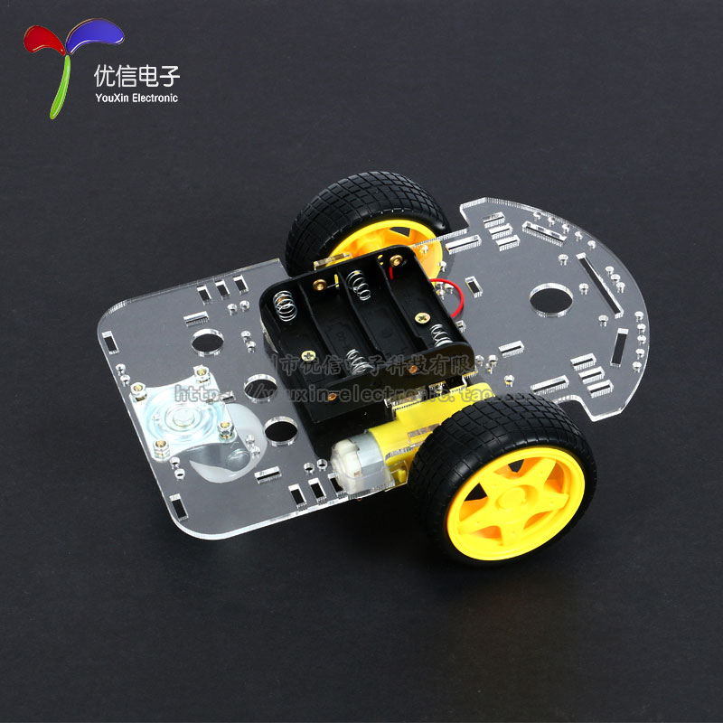 2WD Tracking Smart Car Chassis Kit Sent the Speedometer Intelligent Robot 2 wheel drive robot chassis kit 1 deck