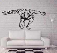 Fitness enthusiast เพาะกายฟิตเนสไวนิลสติ๊กเกอร์ติดผนังฟิตเนสคลับเยาวชนห้องนอนห้องนอนตกแต่งบ้านรูปลอก 2GY6