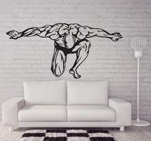 Fitness enthusiasten Bodybuilding fitness vinyl wand aufkleber Fitness Club jugend schlafsaal schlafzimmer home dekoration wand aufkleber 2GY6