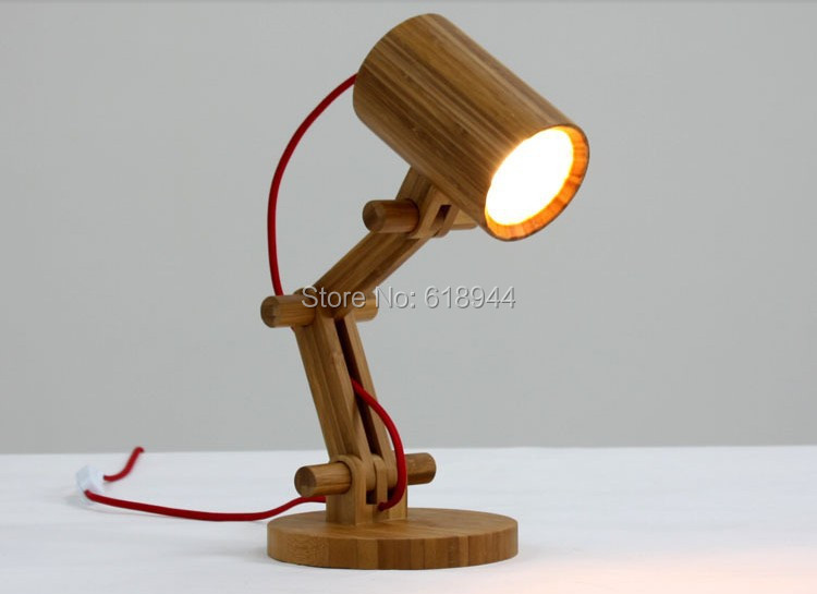Us 56 5 Newest Design Wood Table Lamps Desk Light Living Room Bedroom Decor 110 240v Wood Table Lighting Folding Table Lamp Study Lamps In Table