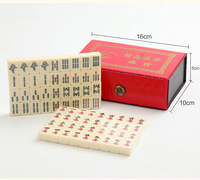 Portable Chinese Mahjong Rare Game Set Vintage Mahjong Table Game