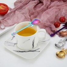 Guitar Coffee Spoon Set Stainless Steel Dessert Ice Cream Spoon Tea Spoon Coffee Accessories Flatware Drinking Tools