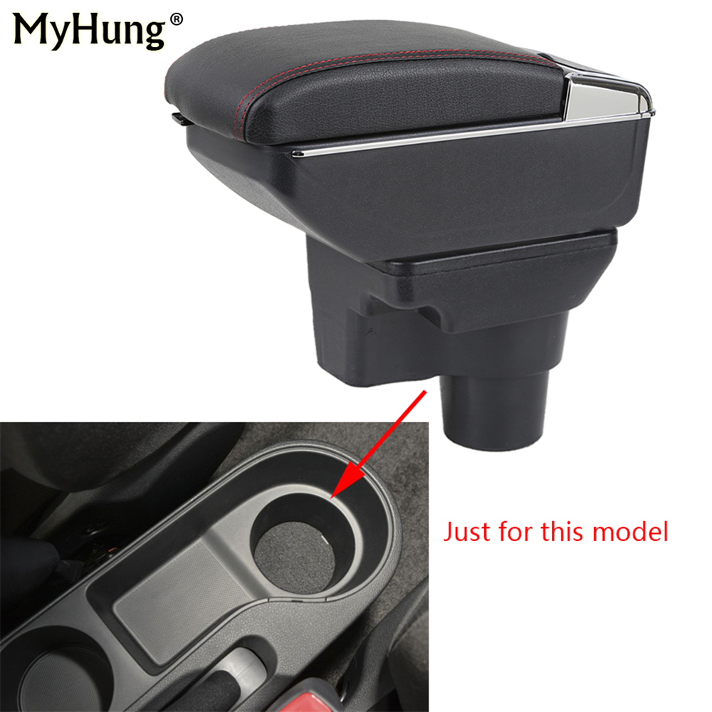 Car Armrest box For KIA Rio 4 Rio X-line 2017 2018 Central Console Arm Store With Down and Rise Function box cup holder ashtray car armrest for kia k2 rio 2011 2016 central store content storage box with cup holder ashtray accessories car styling abs