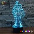 Novidade 3D Luz Lâmpada LED Gadget Brinquedos Capitão América Escudo Home Decor Quarto Lâmpada de Mesa Lâmpada de Iluminação Noturna para Presente da Criança