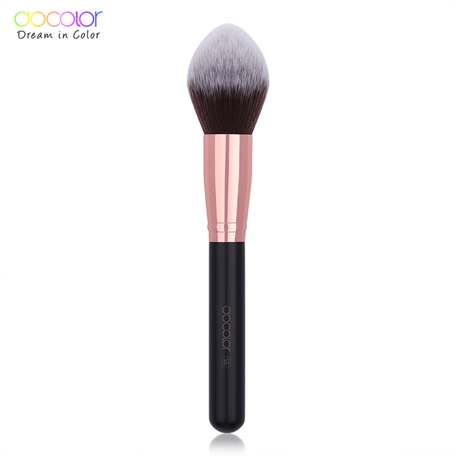 Docolor Black Big Powder Makeup Brushes Soft Highlight Single Glitter Handle Professional Synthetic Hair brushes Beauty Tool 3