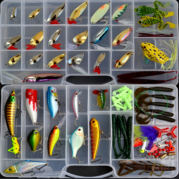 Free shipping ! 109 pieces Full New lure bait suit freshwater sea Lure soft bait lures sequins wholesale Ray frog suit fishing lure kit metal lure soft bait plastic lure wobbler frog lure free shipping