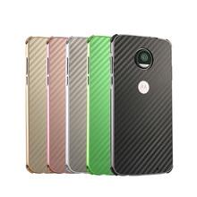 цена на Luxury Metal Case For Motorola Moto G6 Plus G6+ Aluminum Frame & Carbon Fiber Back Cover For Moto G6 Plus Case Shockproof Shell
