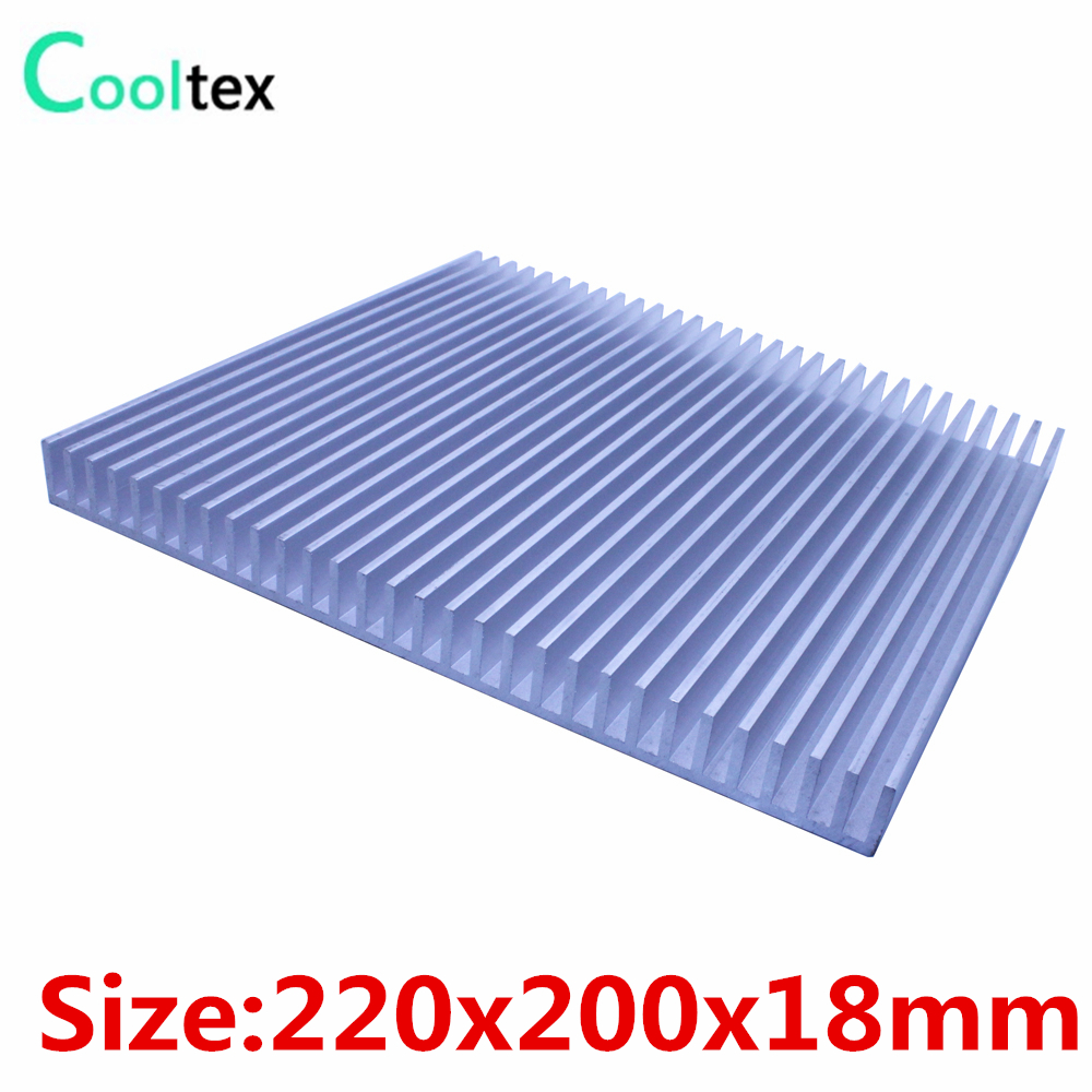 High power 220x200x18mm radiator Aluminum heatsink heat sink for LED Electronic Power Amplifier integrated circuit cooling 5pcs lot pure copper broken groove memory mos radiator fin raspberry pi chip notebook radiator 14 14 4 0mm copper heatsink