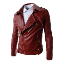 Brand Fashion leather jacket fur men Zipper Removable Moto Coat Ancient Jacket Winter Brief New Autumn Casual Jacket