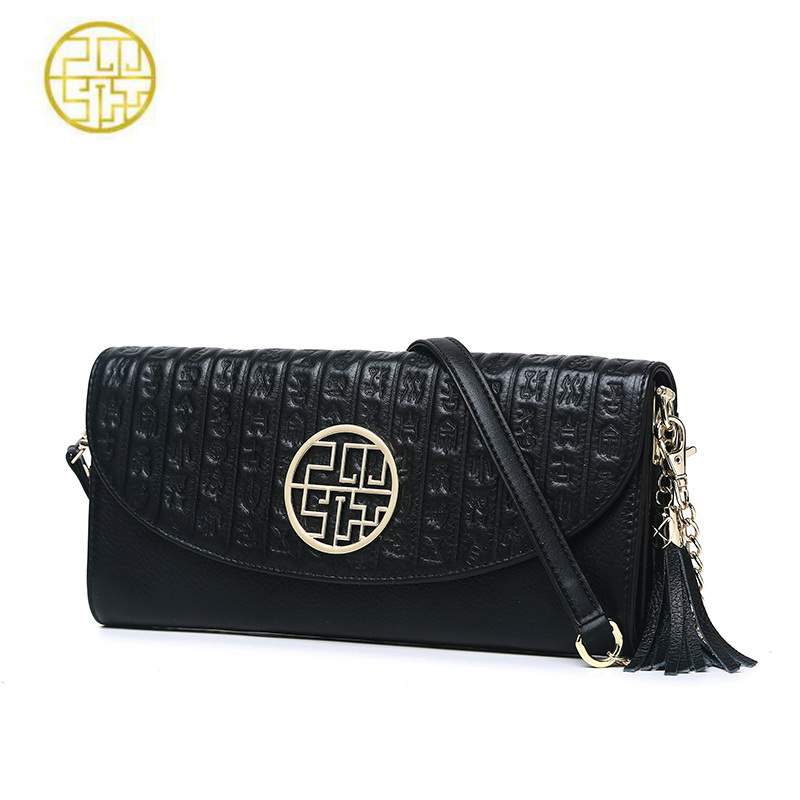 Pmsix Women Genuine Leather Handbags Day Clutches Embossed Clutch Messenger Bags Designer Bag Chain Casual Clutch Crossbody Bag все цены
