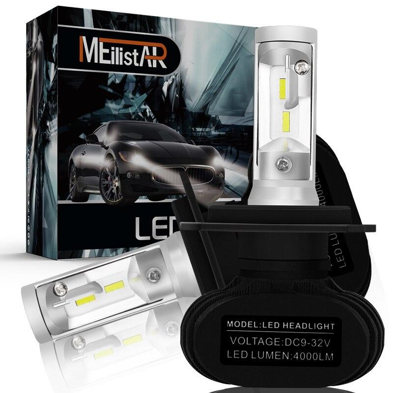 Auto Led H7 Scheinwerfer H13 9005 HB3 9006 HB4 Led H4 Auto Birne 6500 karat CSP Chip 50 watt 8000lm fan-weniger H8 H11 Nebel Lampe Auto zubehör