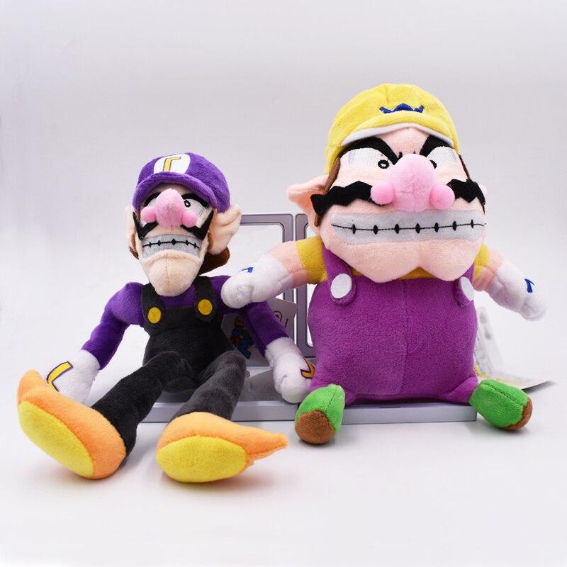 2017 Hot Sales 2Pcs/Set Super Mario Bros Plush Toy Doll Soft Stuffed Animal Wario Waluigi Plush Doll Toys