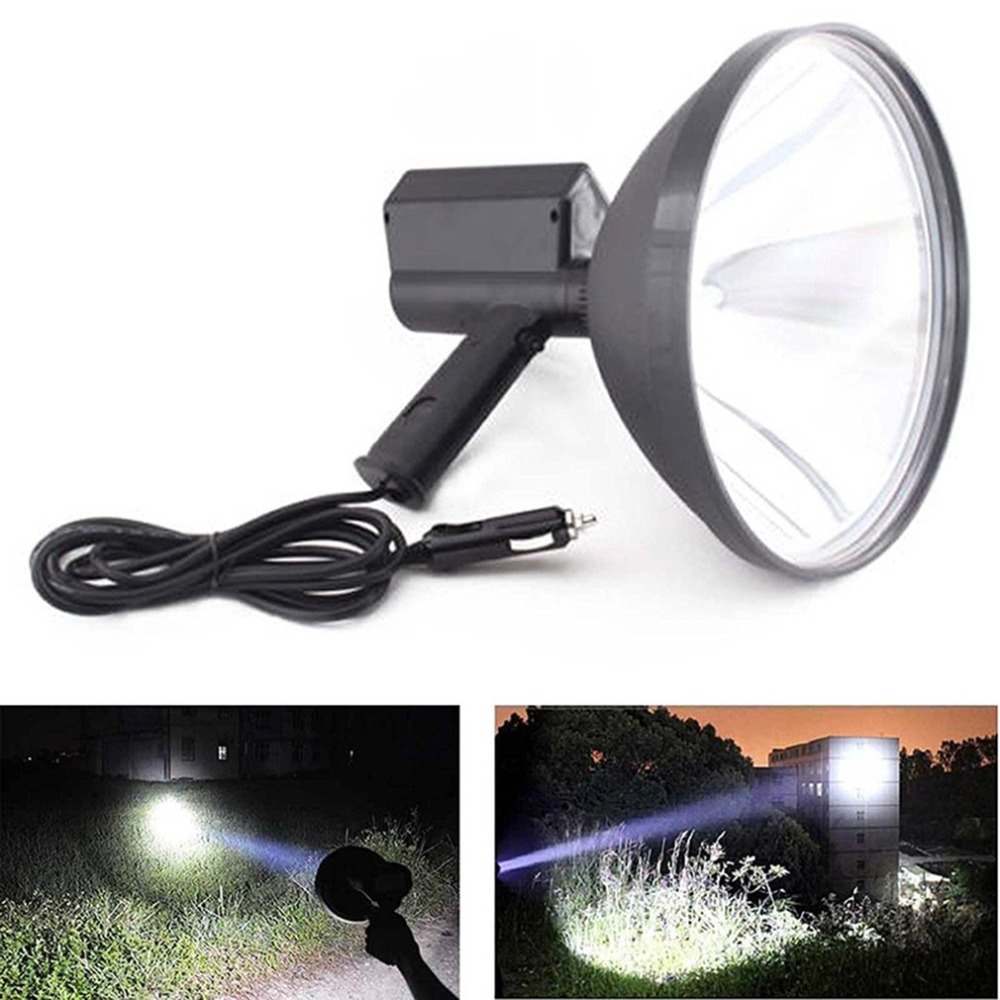 Handheld HID Xenon Lamp 9 inch 1000W 245mm Outdoor Camping Hunting Fishing Spot Light Brightness Spotlight 10 75w 240mm hid xenon handheld portable driving search spotlight hunting fishing hiking camping emergency light 5500lm 9 32v