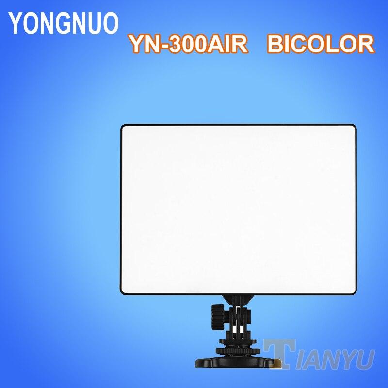 YONGNUO YN300 Air LED lumière vidéo bicolore Ultra mince sur le panneau de protection de l'appareil photo lumière LED pour Canon Nikon Sony Panasonic DSLR caméscope