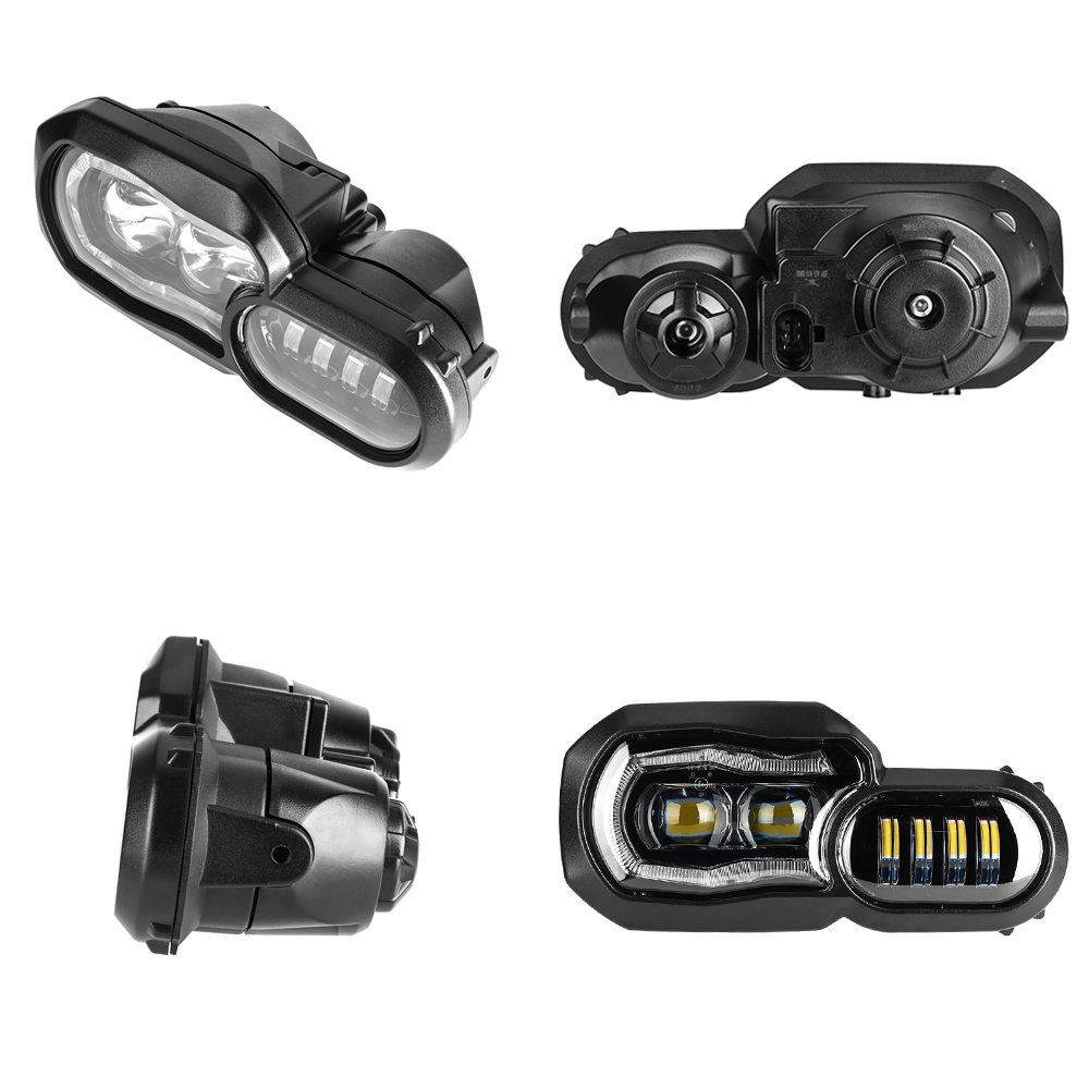 Phare de moto pour BMW F800GS F800R F700GS F650GS aventure motos complet projecteur LED phare - 4